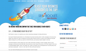 SEO Rocket homepage